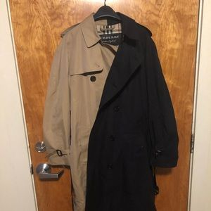 Gosha x Burberry two tone trench coat